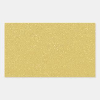 PANTONE-CustardGULT med fint fauxglitter Rektangulärt Klistermärke
