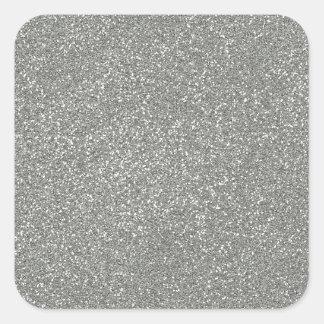 PANTONE-glaciärgrått med fauxglitter Fyrkantigt Klistermärke