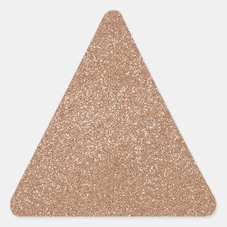 PANTONE rostade mandelrosor med fauxglitter Triangelformat Klistermärke