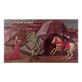 Paolo Uccello - St George och draken Poster