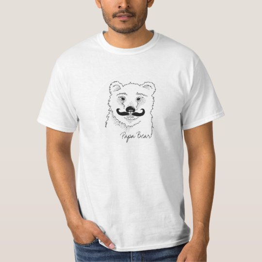Papa Bear MOUSTACHE T Shirts