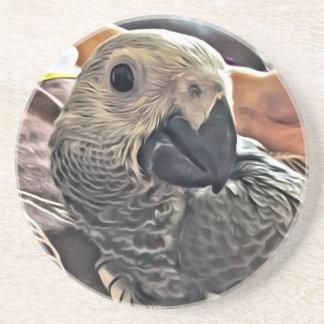 Papegoja för grå färg för babyKongofloden Underlägg Sandsten