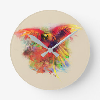 papegoja rund klocka