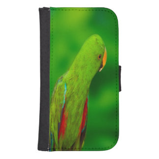 Papegoja Samsung S4 Plånboksfodral