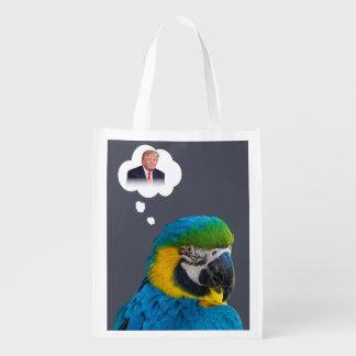 Papegojafunderare av molnet för återanvändbara påsar