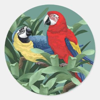 Papegojaklistermärkear Runt Klistermärke