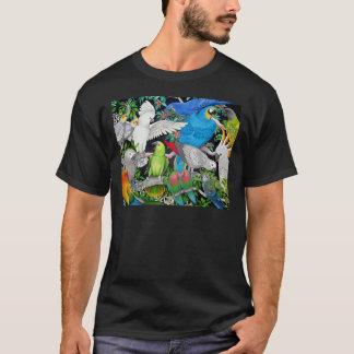 Papegojor av världsmörkT-tröja T-shirt