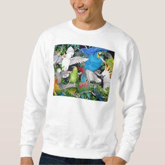 Papegojor av världströjan lång ärmad tröja