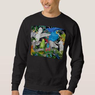Papegojor av världströjan sweatshirt