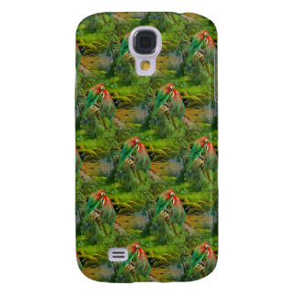 Papegojor Galaxy S4 Fodral