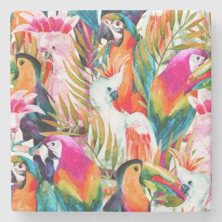 Papegojor & handflatanlöv 2 stenunderlägg