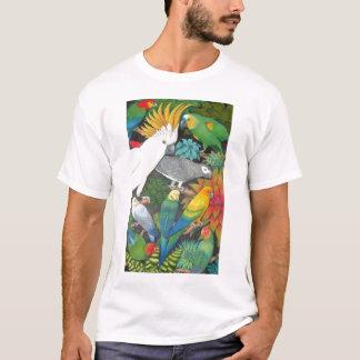 Papegojor och Bromeliads T skjorta Tee Shirts