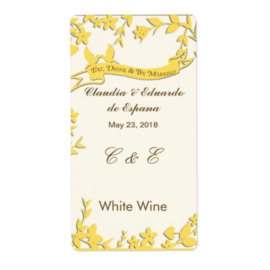 Papel Picado bröllopinbjudan - älskvärda duvor Fraktsedel