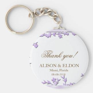 Papel Picado bröllopinbjudan - älskvärda duvor Rund Nyckelring