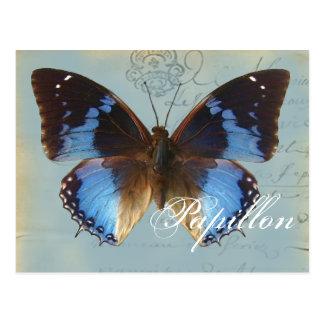 Papillon bleu vykort