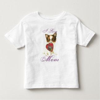 Papillon hjärtamamma t-shirt