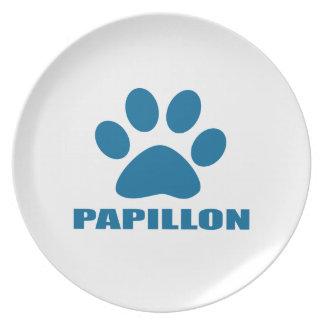 PAPILLON-HUND DESIGN TALLRIK