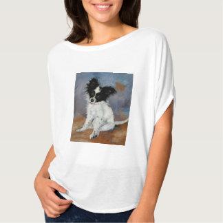 Papillon hundporträtt t shirt