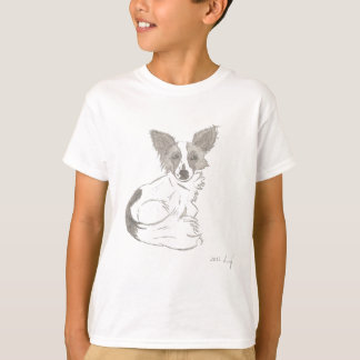 Papillon skissar skjortor t-shirt