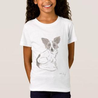 Papillon skissar skjortor tee shirt