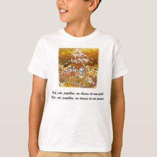 Papillons-/fjärilar - franska barns skjorta tröjor