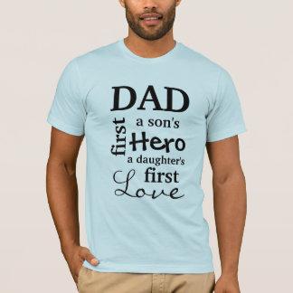 Pappa en sons första hjälte som en dotter älskar tee shirts
