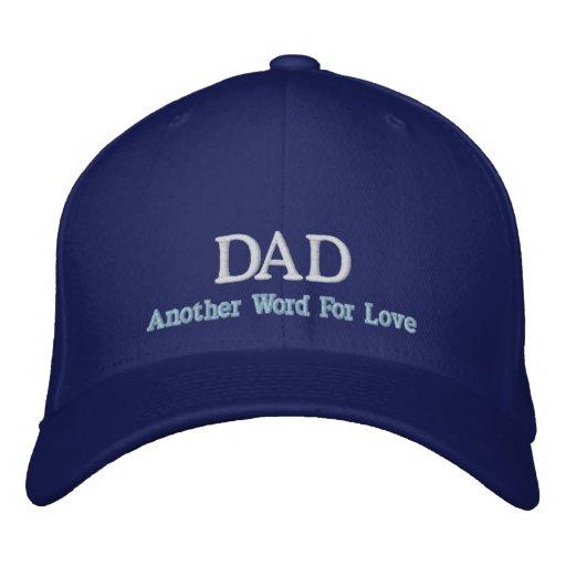 Pappa ett annat ord för kärlekhatt broderade baseball kepsar