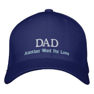 Pappa ett annat ord för kärlekhatt broderad keps
