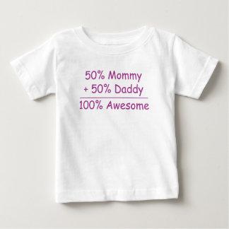 pappa för 50% mammor 50% 100% enorma bebis tshirts