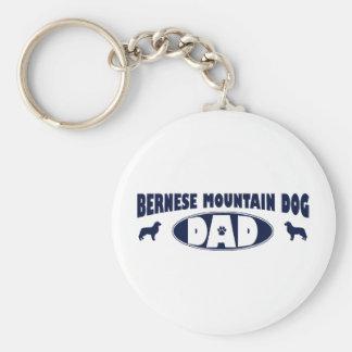 Pappa för Bernese berghund Rund Nyckelring
