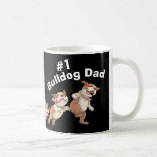 Pappa för bulldogg #1 (mörk) kaffemugg