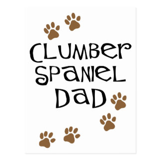 Pappa för Clumber Spaniel Vykort