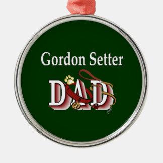Pappa för Gordon Setter Julgransprydnad Metall