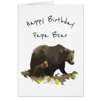 Pappa för grattis på födelsedagenpappabjörn, far hälsningskort