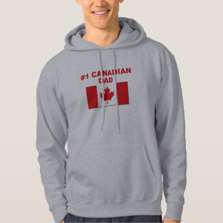 Pappa för kanadensare #1 sweatshirt med luva