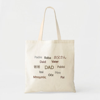 Pappa i många språk tygkasse
