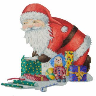 pappa jul- och gåvafotoskulptur