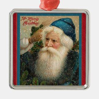 Pappa julturkos som är röd julgransprydnad metall