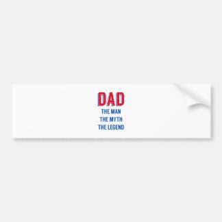 Pappa manen, mythen, legenden, fars dag bildekal