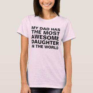 Pappa mest enorm dotterordstäv t-shirt