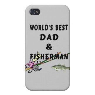 Pappa och fiskare iPhone 4 fodraler