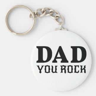 Pappa som du vaggar, textdesign för fars dag rund nyckelring