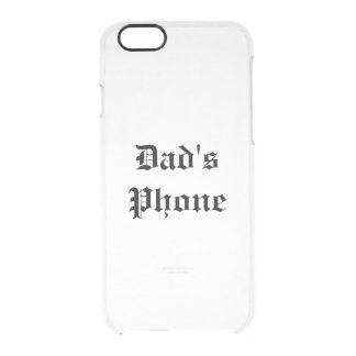 pappa telefon clear iPhone 6/6S skal