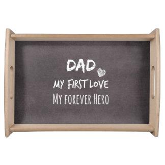 Pappacitationstecken: Min första kärlek, min för Lunchbrickor