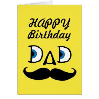 Pappagrattis på födelsedagen hälsningskort