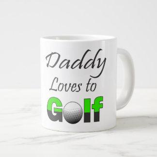 Pappan älskar för den stora älskare för Golf Jumbo Mugg
