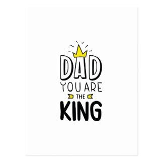 Pappan är du kungen vykort