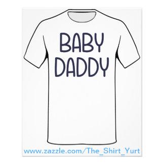 Pappan för babymammababy (dvs. fadern)  reklamblad 11,5 x 14 cm