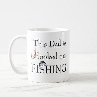 Pappan hakas på FISKE - förhållandeanpassade Kaffe Mugg