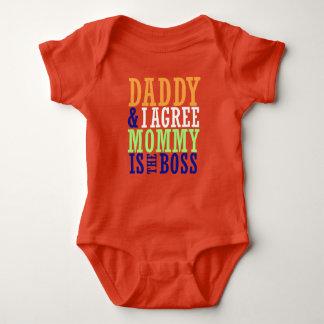 Pappan & jag instämm mammor är chefbabybodysuiten t shirt